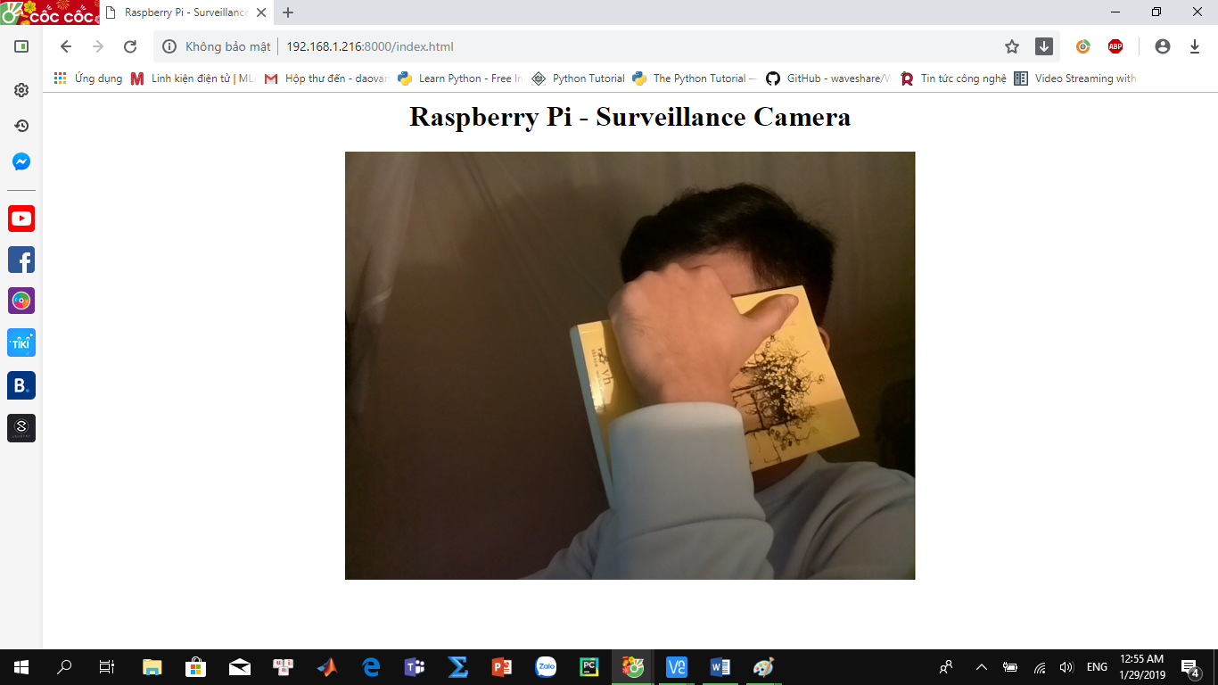 Streaming video với Raspberry Pi Camera lên web server