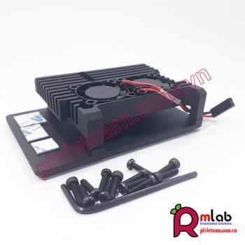 Vỏ hộp nhôm quạt tản nhiệt đôi SP25 dành cho Raspberry Pi 4