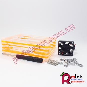 Vỏ hộp đa sắc màu có quạt SP26 dành cho Raspberry Pi 4