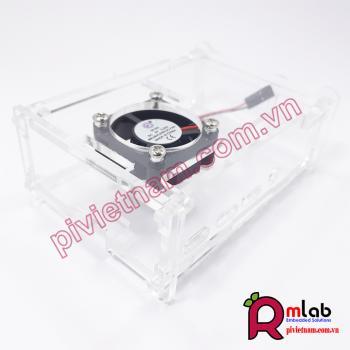 Vỏ hộp mica có quạt tản nhiệt SP27 dành cho Raspberry Pi 4