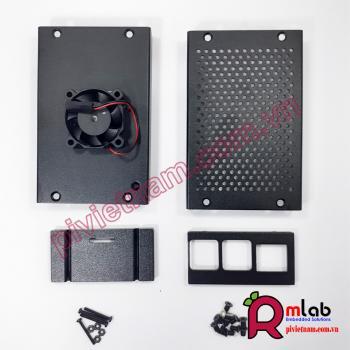 Vỏ hộp nhôm có quạt tản nhiệt SP28 dành cho Raspberry Pi 4