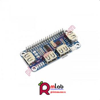 HUB HAT 4 cổng USB dành cho Raspberry Pi