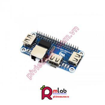 Ethernet - USB HUB HAT dành cho Raspberry Pi