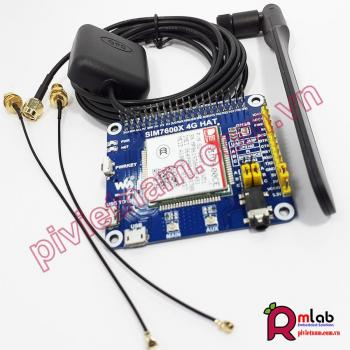 4G / 3G / 2G / GSM / GPRS / GNSS HAT for Raspberry Pi, LTE CAT4 module SIM7600