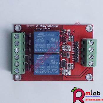Module Relay 12VDC x 2