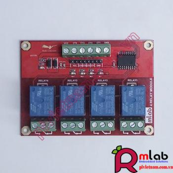 Module Relay 12VDC x 4