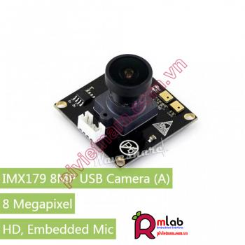 USB Camera (A) IMX179 8MP Ultra High Definition, Embedded Mic