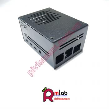 Firm Metal Case for Raspberry Pi 4, with Low-Profile ICE Tower Cooling Fan