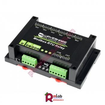 Module Industrial Modbus RTU 8-ch Relay, RS485 Bus, Multi Protection -Waveshare